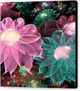Pastel Posies Canvas Print by Peggi Wolfe