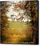 Path Of Life Canvas Print by Lena Auxier