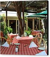 Patio Dining At The Swiss Hotel In Downtown Sonoma California 5d24439 Canvas Print by Wingsdomain Art and Photography