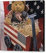Patriot Bear Canvas Print by Sharon Elliott