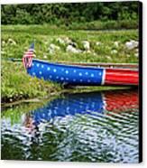Patriotic Canoe #1 Canvas Print by Nikolyn McDonald