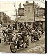 Pat's With Cycles Canvas Print by Jack Paolini