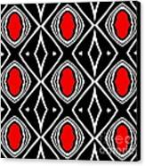Pattern Geometric Black White Red Art No.391. Canvas Print by Drinka Mercep