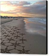 Patterns On Venice Beach Canvas Print by Art Block Collections