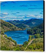 Patterson Lake In The Summer Canvas Print by Omaste Witkowski