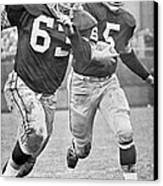Paul Hornung Running Canvas Print by Gianfranco Weiss
