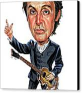 Paul Mccartney Canvas Print by Art