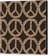 Peace Symbol Collage Canvas Print by Michelle Calkins
