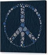 Peace Symbol Design - Bld01t01   Canvas Print by Variance Collections