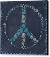 Peace Symbol Design - Btq19at2 Canvas Print by Variance Collections