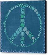 Peace Symbol Design - Tq19at02 Canvas Print by Variance Collections
