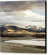 Peaceful Day In Helena Montana Canvas Print by Dana Moyer