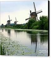 Peaceful Dutch Canal Canvas Print by Carol Groenen