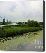 Peaceful Kinderdijk Canvas Print by Carol Groenen