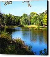 Peaceful Lake Canvas Print by Susan Savad