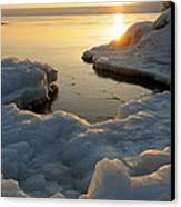 Peaceful Moment On Lake Superior Canvas Print by Sandra Updyke