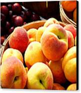 Peaches And Plums Farmers Market Canvas Print by Julie Palencia