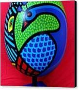 Peacock Egg Canvas Print