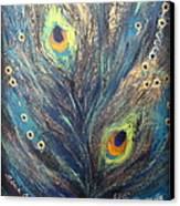 Peacock Eyes Canvas Print by Elena  Constantinescu