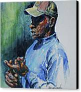 Pearl Fryar Lectures Canvas Print by Sharon Sorrels