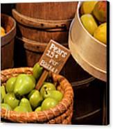Pears - 15 Cents Per Basket Canvas Print