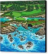 Pebble Beach 15th Hole-north Canvas Print