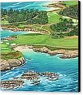 Pebble Beach 15th Hole-south Canvas Print