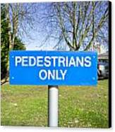 Pedstrians Only Canvas Print by Tom Gowanlock