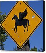Pegasus Road Sign Canvas Print