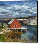 Peggy's Cove Canvas Print by Cindy Rubin