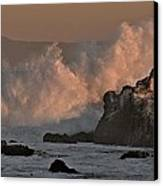 Pelicans In The Dawn Canvas Print by Elery Oxford