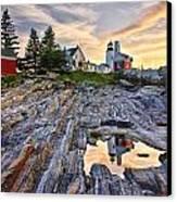 Pemaquid Lighthouse Reflection Canvas Print