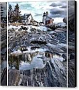 Pemaquid Lighthouse Canvas Print by Victoria  Dauphinee