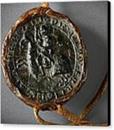 Pendent Wax Seal Of The Council Of Calahorra Canvas Print