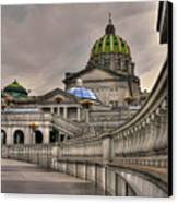 Pennsylvania State Capital Canvas Print by Lois Bryan