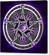 Pentacle Of The Purple Moon Canvas Print by Richard Barnes