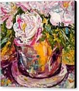 Peonies Canvas Print by Barbara Pirkle