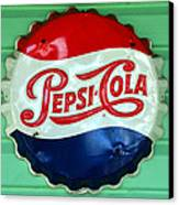 Pepsi Cap Canvas Print by David Lee Thompson