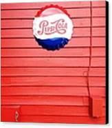 Pepsi-cola Canvas Print by Joan Meyland