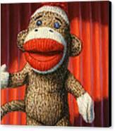 Performing Sock Monkey Canvas Print