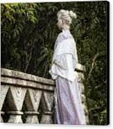 Period Lady On Bridge Canvas Print