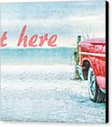Free Personalized Custom Beach Art Canvas Print
