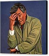 Peter Falk As Columbo Canvas Print by Paul Meijering