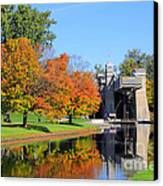 Peterborough Lift Lock Canvas Print by Charline Xia