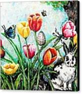 Peters Easter Garden Canvas Print by Shana Rowe Jackson