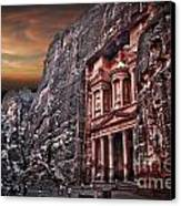 Petra The Treasury Canvas Print by Dan Yeger