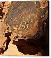 Petroglyphs Canvas Print by Valeria Donaldson