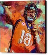 Peyton Manning Abstract 4 Canvas Print