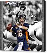 Peyton Manning Broncos Canvas Print by Joe Hamilton