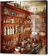 Pharmacist - Behind The Scenes  Canvas Print by Mike Savad